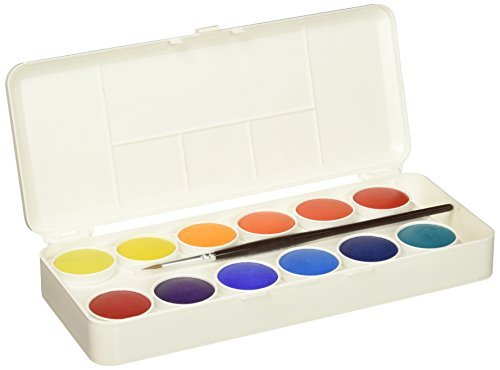 Grumbacher Transparent Watercolor Set, 24 Colors & Brush