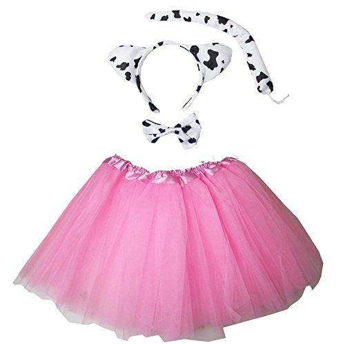 Kirei Sui Kids Costume Tutu Set Pink Cow ()