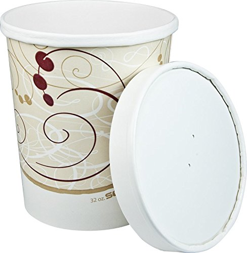 Solo KHB32A-J8000 32 oz Symphony Paper Food Container And Lid (Case of 250 Containers -