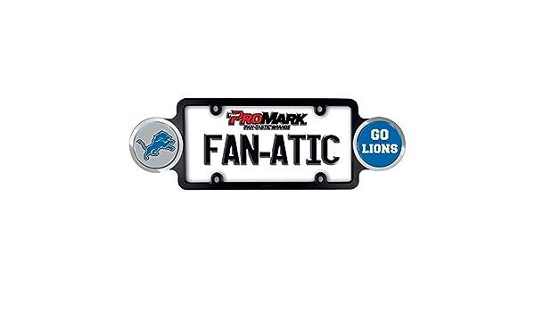 DETROIT LIONS Matte Black License Plate Frames car nfl football accessories 2