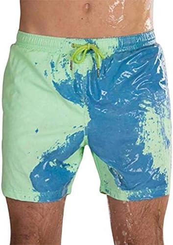 Zoloyo Strandshorts voor heren magische kleurverandering strandshorts voor mannen badmode sneldrogend zwemshorts voor jongens strand vrije tijd broek elastische tailleband