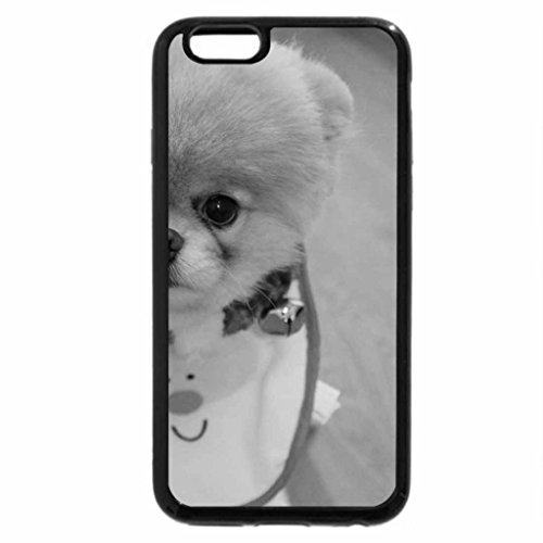 iPhone 6S Case, iPhone 6 Case (Black & White) - Cute Christmas Dog 2012 HD
