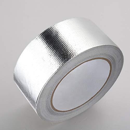 GCYJD Thickened Fiberglass Cloth Flame Retardant Aluminum Foil Tape High Temperature Resistant Tape Water Heater Range Hood Exhaust Pipe Tin Foil