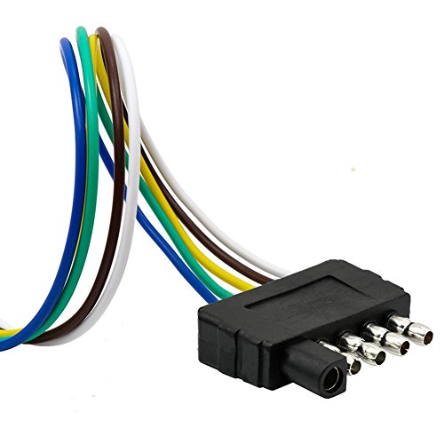 - TIROL 5-Way Flat Trailer Wire Harness Extension Connector Plug with 36 inch Cable Length End Connector