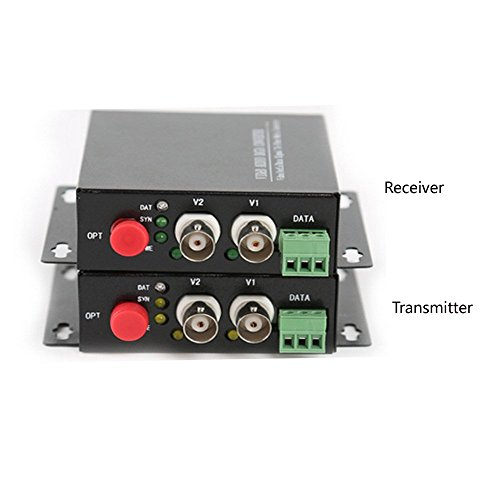 Guantai 2 Channels Video Fiber Optic Media Converter With RS485 Data,Singlemode fiber Up 20Km, For CCTV Cameras Surveillance Security System by Guantai