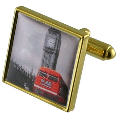 Big Ben London Bus Rouge Manchette avec pochette cadeau sélectionner