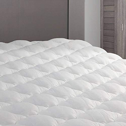 eLuxurySupply RV Mattress Pad - Extra Plush Topper with Fitted Skirt - Found in Marriott Hotels - Made in The USA - Hypoallergenic - Mattress Cover for RV