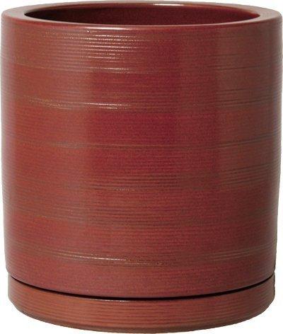 プラスガーデン 植木鉢受皿セット コラムミドル Φ300mm 底穴あり マロン 信楽焼 415-05 B00D5P1YXO