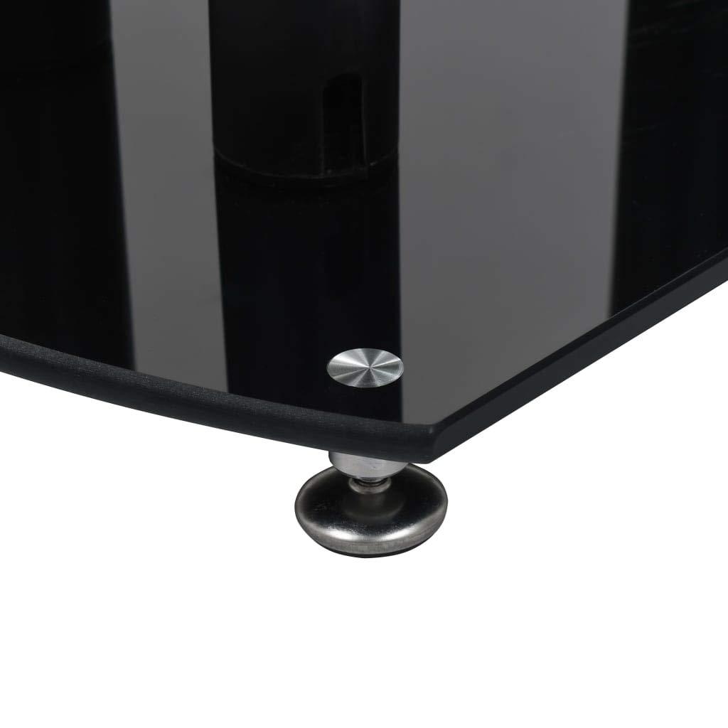 vidaXL 2X Supports de Haut-Parleur Pied dEnceinte Support dEnceinte Pied de Haut-Parleur Int/érieur Maison Aluminium Verre de S/écurit/é