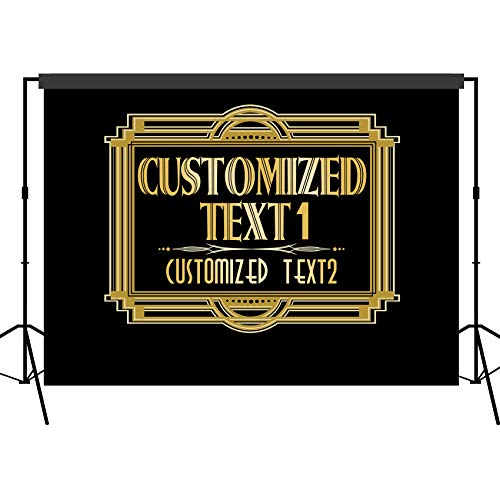 musykrafties Customised Roaring 1920s Gatsby Backdrop Photography Background Party Wall Photo Booth Props for Birthday Occasions Wedding Hen Parties ()