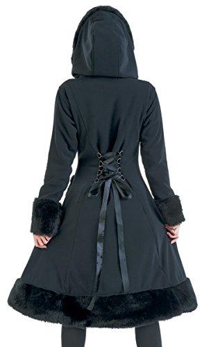 Abrigo Abrigo Industries Minx Negro Negro Mujer Poizen 1OFqfP