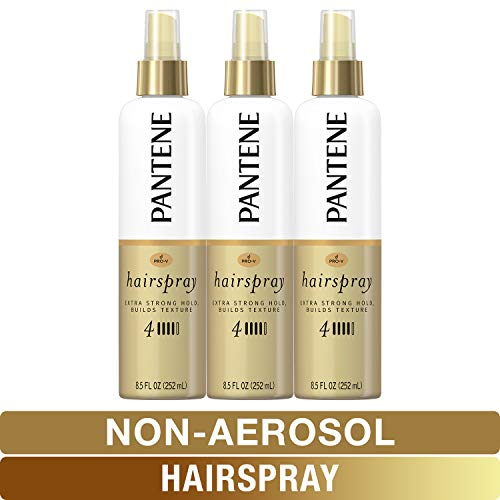 Pantene Hairspray Non-aerosol, Extra Strong Hold, Pro-V Level 4, Texture Building, 8.5 fl oz, Triple Pack