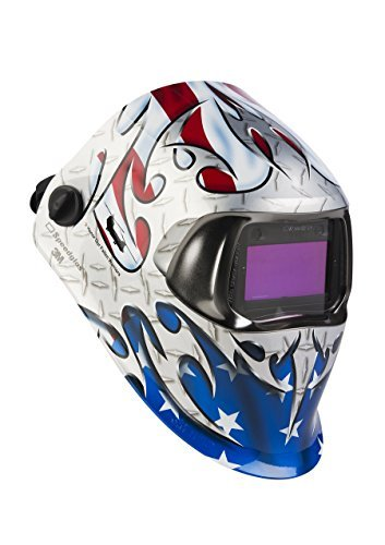 3M Speedglas Welding Helmet 100 Tribute with Auto-Darkening Filter 100V 07-0012-31TB, Welding Safety, Shades 8-12 by 3M Personal Protective Equipment (Image #2)