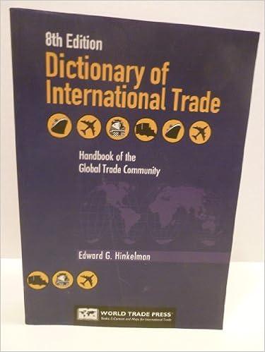 Dictionary Of International Trade 9th Edition Pdf