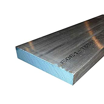 "1-1//2/"" X 2/"" ALUMINUM 6061 FLAT BAR 12/"" long 1.500/"" Solid Plate New Mill Stock"