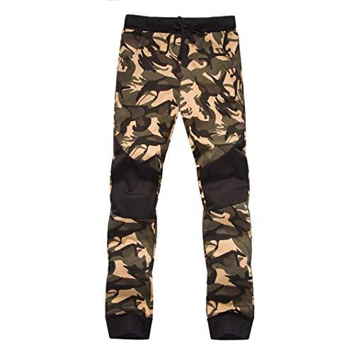 Bolsillos Casuales Moda Deportivos Camuflaje Con Correr Basicas Libre Para Pantalones De Hombre Aire Al Gelb Primavera Otoño nq0gwz7P