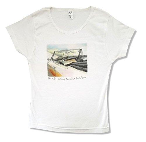 Bruce Springsteen E Street Band 2003 Car Image Juniors White T Shirt (S)