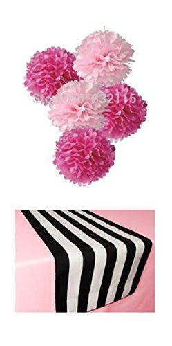 amazon com pink black and white paris theme party decorations kit