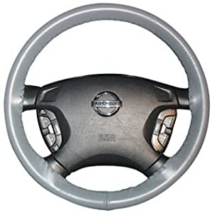 Wheelskins Original Genuine Leather Steering Wheel Cover- Size C(Gray)