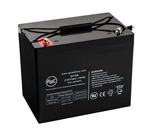 Hoveround Teknique XHD 12V 75Ah Wheelchair Battery - This...