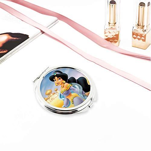 DISNEY COLLECTION Makeup Mirror for Women Girls Jasmine Disney Princess Aladdin Pattern -