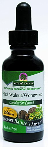 - Nature's Answer Alcohol-Free Black Walnut and Wormwood Complex, 1-Fluid Ounce (Pack of 3)