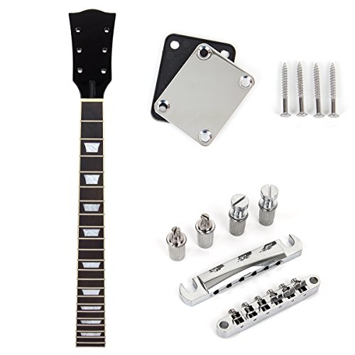 Replacement Guitar Neck - Guitar Neck 22 Fret With White Tune-o-matic Bridge Tailpiece Neck Plate For Electric Guitar Parts Replacement