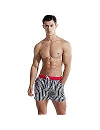 ZXHHL Beach Pants Loose Stripes