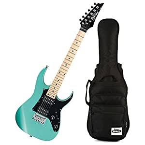 ibanez grgm21m mikro metallic light green mini electric guitar w gig bag musical. Black Bedroom Furniture Sets. Home Design Ideas