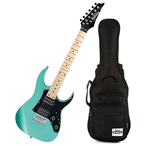 Ibanez GRGM21M MIKRO Metallic Light Green Mini Electric Guitar w/ Gig Bag