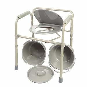 Amazon.com: Portable Folding Steel Bedside Commode