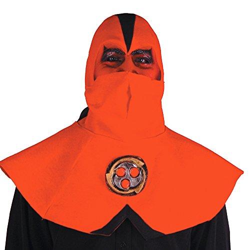 Ninja Devil Half Mask With Hood (Ninja Devil Half Mask W Hood - Halloween Mask)