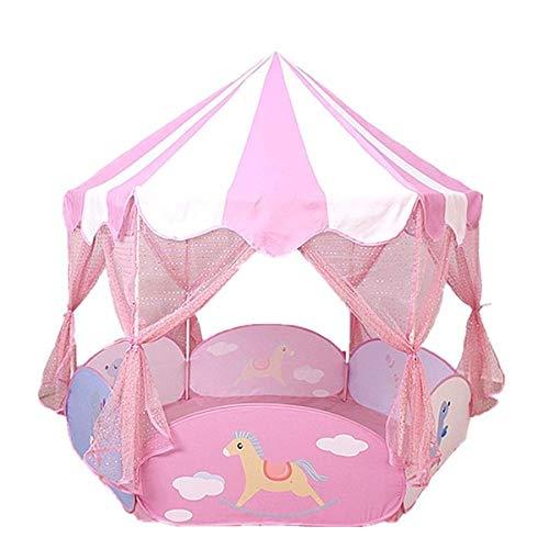 キッズテント ボールプール テント子供 テントハウス子供用 プレイテント テント ピンク おもちゃ 室内 屋外 秘密 B00G1KS5JG