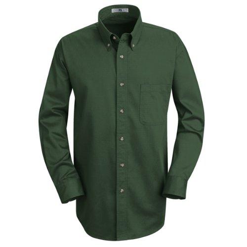 Lee Men's Meridian Performance Twill Shirt Emerald 5.0oz Long Sleeve (Dress Twill)