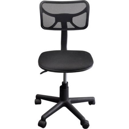 Urban Shop Swivel Mesh Chair | Adjustable Lever for Varying Heights (Black) by Urban Shop