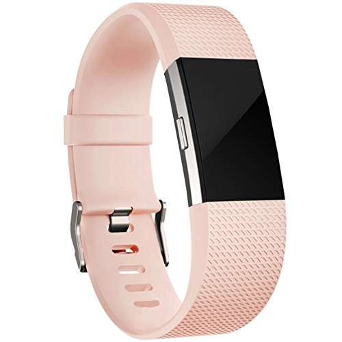 Maledan For Fitbit Charge 2 Bands, Replacement Accessory Wristbands for Fitbit Charge 2 HR, Champagne Large