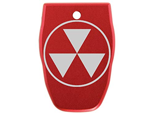 for Smith Wesson S&W SD9VE Magazine Base Plate 9mm NDZ Red Fallout Shelter Symbol Semi Solid