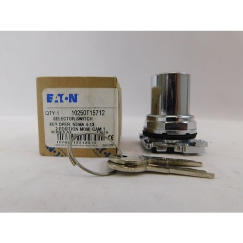Eaton 10250T15712 30mm Selector Switch. Key Operated, 10250T