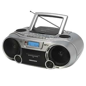MEDION MD 82853 P66026 - Reproductor estéreo de mp3, CD y radio con bandeja de casete USB, indicador digital de frecuencia, lector de tarjetas SD / MMC