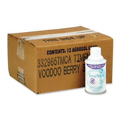 TimeMist 332965TMCT - Metered Fragrance Dispenser Refills, Voodoo Berry 5.3 oz, 12 Cans/Carton by Timemist
