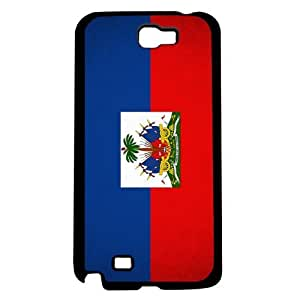 Haiti Flag Red Blue and White Hard Snap on Cell Phone Case Cover Samsung Galaxy Note 2 N7100