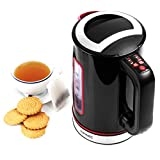 Duronic EK30 Electric Kettle Cordless | Eco 3000W Variable Temperature | Red & Black / Stainless Steel |Fast Boil 1.5 Litre Hot Water Kettle | Coffee / Tea | Energy Efficient | British Heating Control