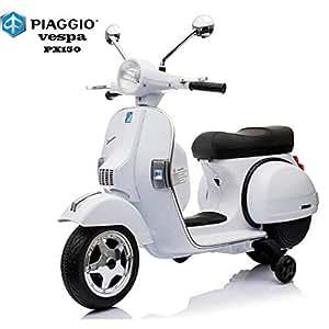 BC BABY COCHES Moto eléctrica para niños Vespa (Blanco)