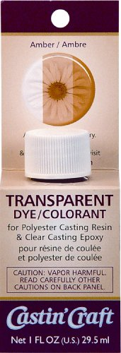 Environmental Technology 1-Ounce Casting' Craft Transparent Dye, Amber
