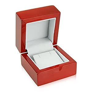 Amazon.com: Cherry Wood Earring Gift Box: Jewelry Boxes