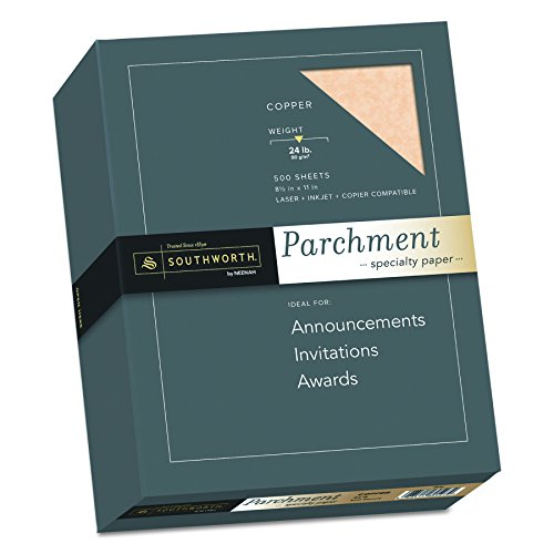 Southworth Parchment Specialty Paper, 8.5 x 11 inches, 24 lb, Copper, 500 per Box (894C)