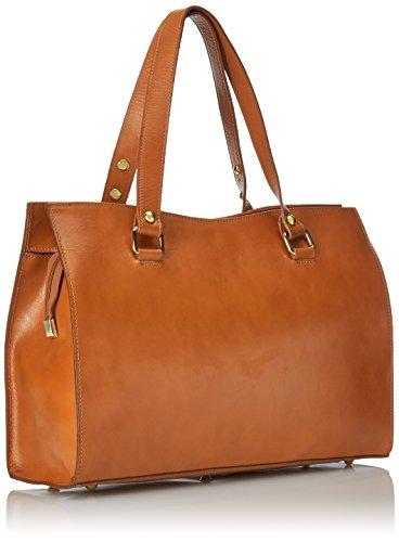 Made classique in CTM Sac 38x27x12cm 100 véritable Italy Orange Cuoio cuir femme qrE0fwx8E