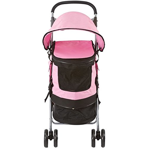 Pink Pet Stroller, Carrier and Car Seat All-in-One by Discount Ramps (Image #4)