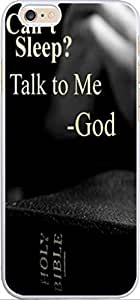 Case For Iphone 6, Iphone 6 Case Bible Verses Christian Quotes 4.7 Inches Can'T Sleep Talk To Me God