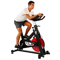 Unleash your inner beast with the Sunny Health and Fitness SF- B1714 Evolution Pro Magnetic Belt Drive Indoor Cycling Bike. 44 Pound Chrome Flywheel designed for maximum stability forces momentum forward in your legs. Magnetic resistance is d...
